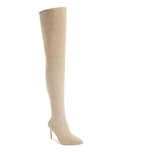 POUR LA VICTOIRE cassie thigh high boot - The stretchy, fitted shaft of this pointy-toe stiletto...