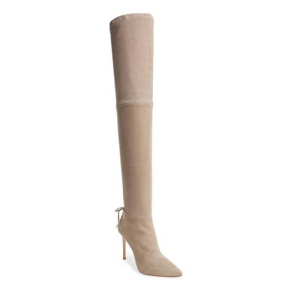 POUR LA VICTOIRE 'caterina' over the knee boot - Decorative laces at the back highlight the slim stiletto...