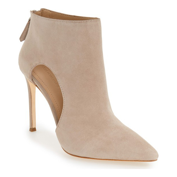 POUR LA VICTOIRE 'cierra' pointy toe bootie - This wardrobe-staple bootie is crafted of soft suede with a...