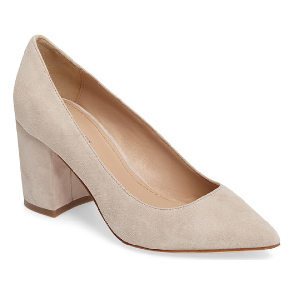 POUR LA VICTOIRE val block heel pump - A low-cut topline and graceful pointed toe balance the...