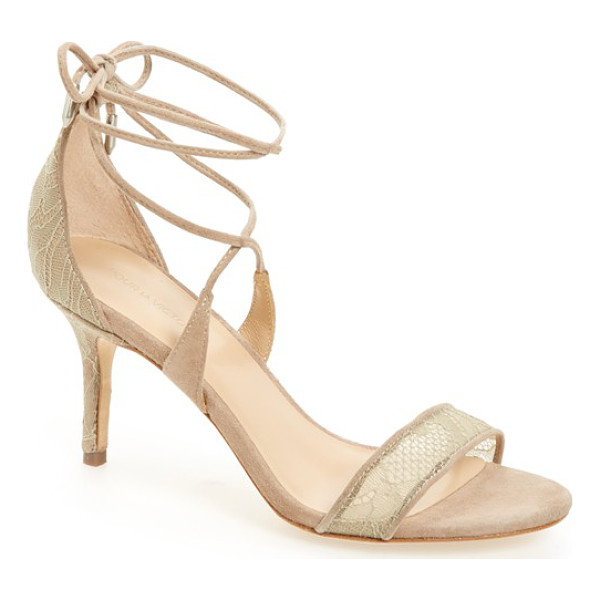 POUR LA VICTOIRE 'zahara' lace-up sandal - A svelte wrapped heel grounds a sultry lace-up sandal