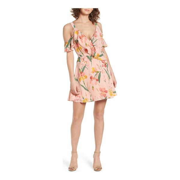 PRIVACY PLEASE hamlet off the shoulder wrap dress - Perfectly pretty for any warm-weather celebration, this...