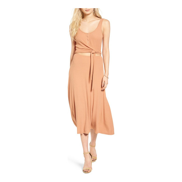 PRIVACY PLEASE malone knit midi dress - Perfect for dinner parties on the porch and afternoons at...