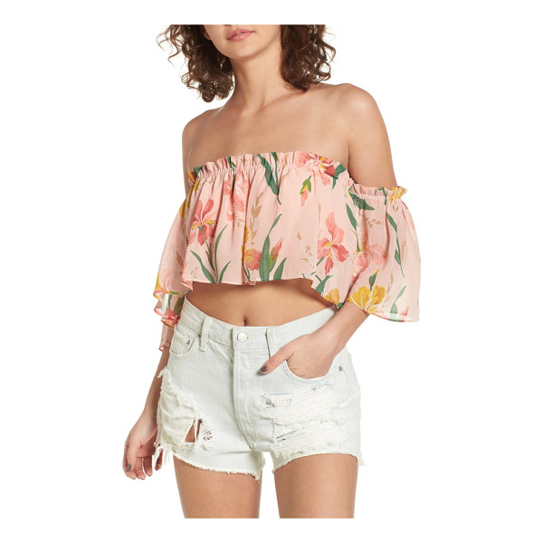 PRIVACY PLEASE parsons off the shoulder crop top - Whether you're soaking up the sun seaside or at a festival,...