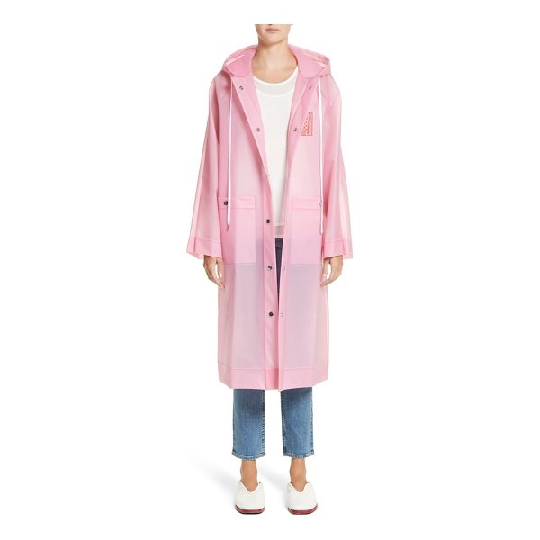 PROENZA SCHOULER pswl graphic raincoat - Streetwise graphics brand a hooded, waterproof anorak...