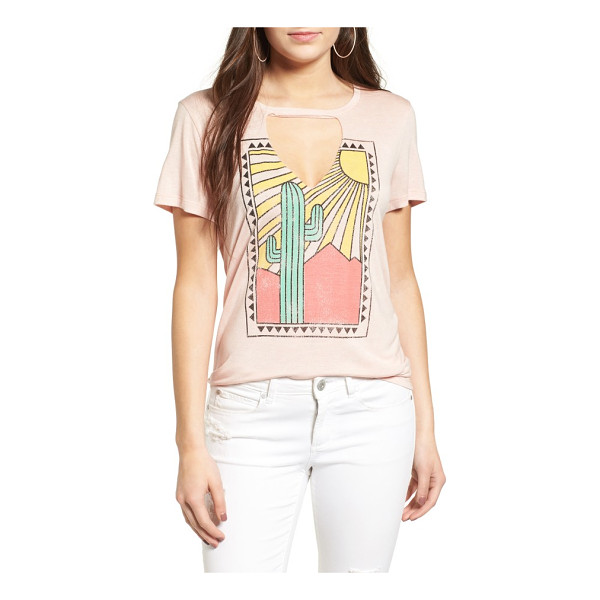 PST BY PROJECT SOCIAL T cactus cutout tee - An oversized cutout offers a playful peek of skin in this...