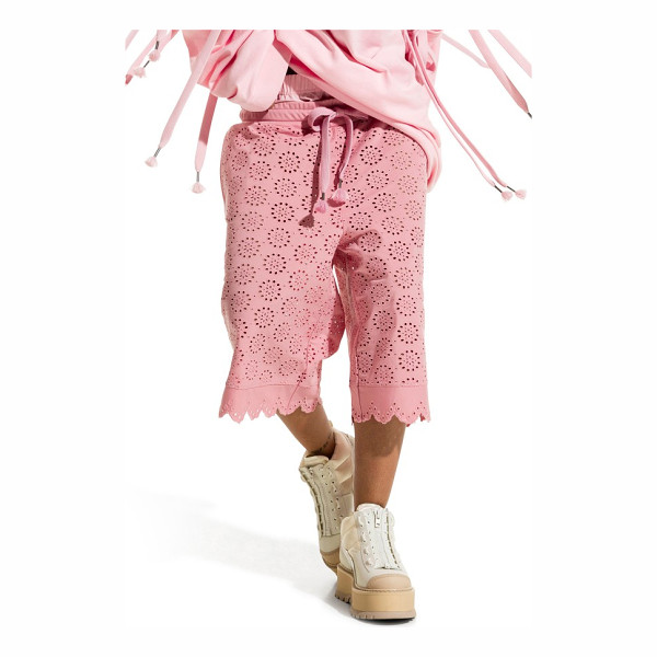 PUMA fenty  by rihanna long eyelet shorts - Tied up with a drawstring and ornamented with precise...