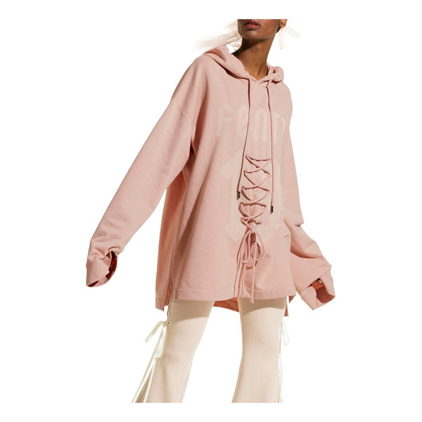 PUMA fenty  by rihanna oversize lace front hoodie - Whether you're heading to the gym or the club, go big in...