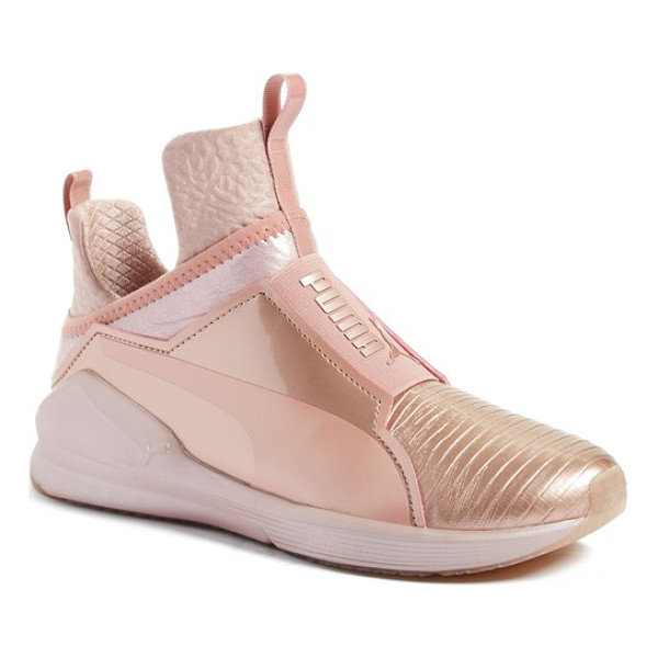 PUMA fierce metallic high top sneaker - PUMA takes street style to the extreme with an...