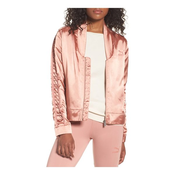 PUMA satin track jacket - A feminine satin track jacket gets a sporty refresh with...