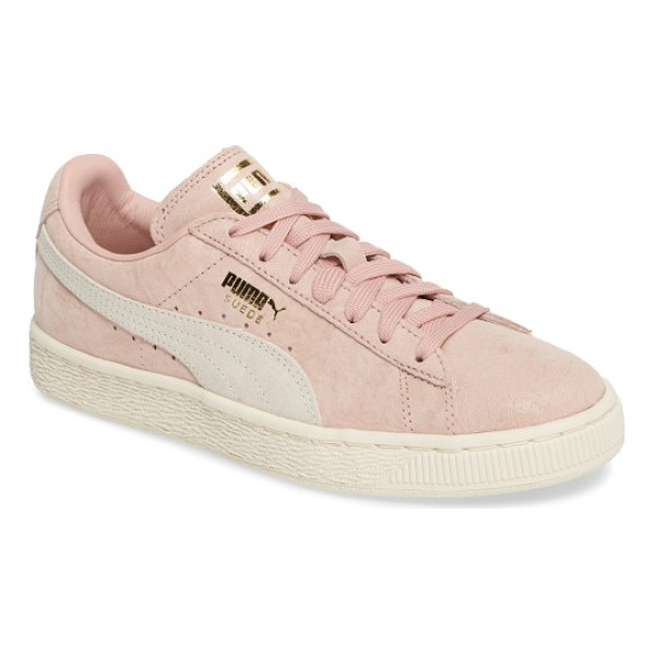 PUMA suede classic shine sneaker - A subtle allover sheen and shiny logo embossing amp up the...
