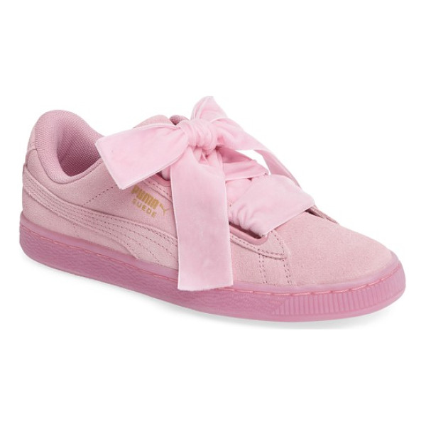 PUMA suede - Ribbon laces provide a pretty finishing touch for a classic...