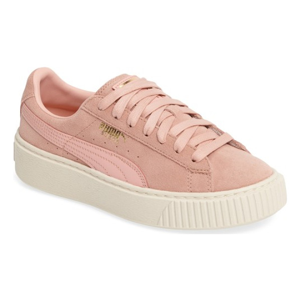 PUMA suede platform core sneaker - A classic sneaker is transformed into an off-duty must-have...