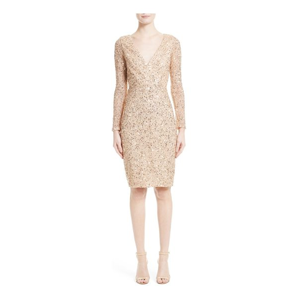 RACHEL GILBERT sequin body-con dress - Glittering sequins light up the surface of a slim, body-con...