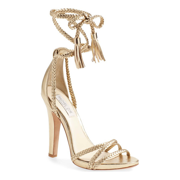 RACHEL ZOE odette sandal - Braided laces topped with trend-right leather tassels...