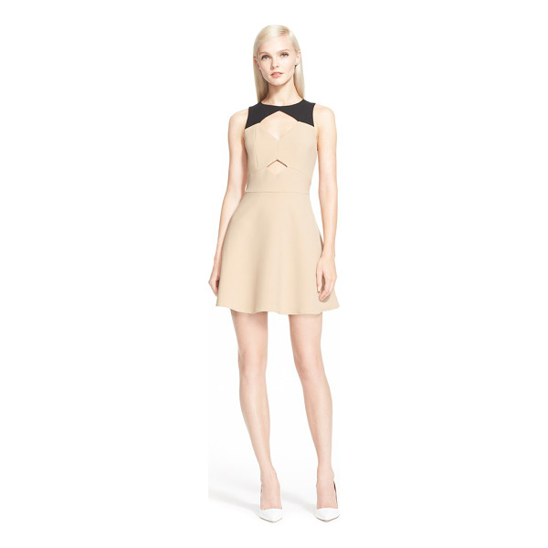 RACHEL ZOE page colorblock fit & flare dress - A pair of diamond-shaped keyholes spice up the bodice of a...