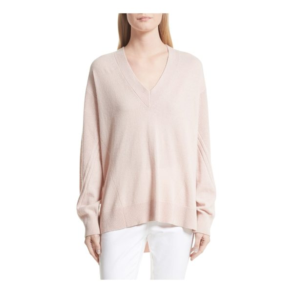 RAG & BONE ace cashmere sweater - Engineered stitching adds textural interest to an oversized...