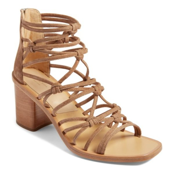RAG & BONE camille knotted strappy sandal - Cleverly knotted mignon straps cage the front of a...