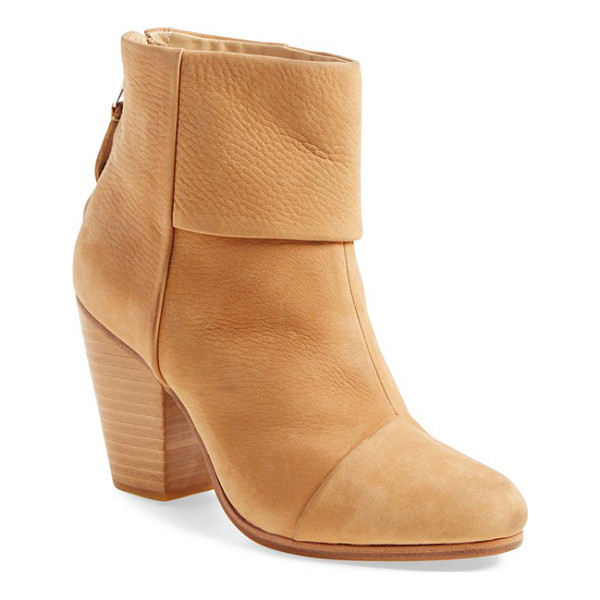 RAG & BONE classic newbury boot - A stacked heel offers walkable lift to a versatile and...
