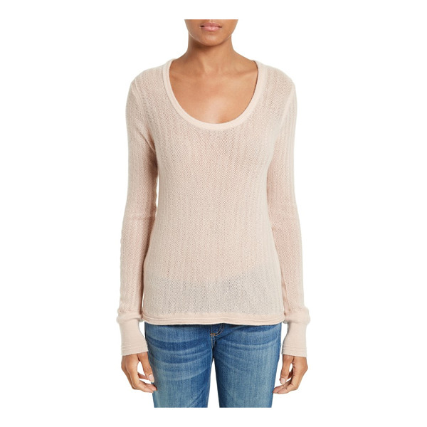 RAG & BONE estelle cashmere sweater - Knit with a subtle herringbone texture, this featherweight...