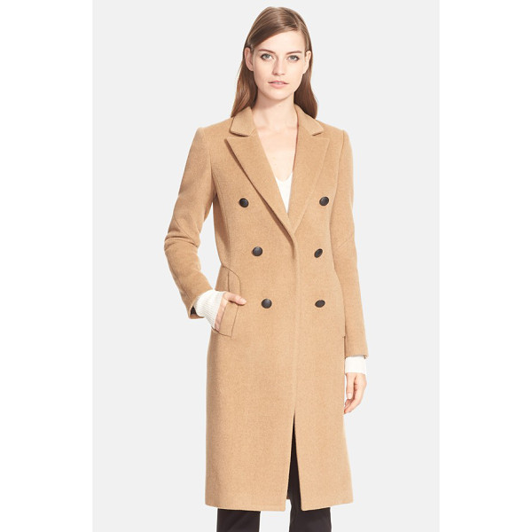 RAG & BONE faye coat - A long, elegant double-breasted coat is cut from pure, luxe...