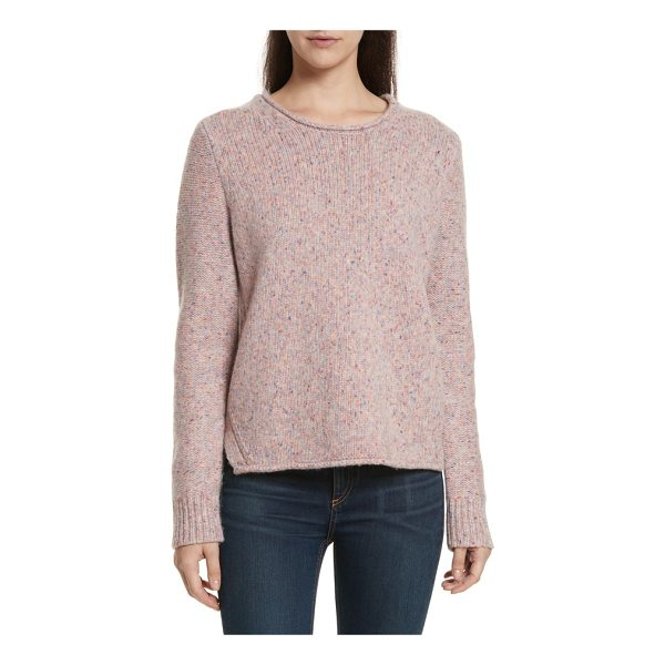 RAG & BONE francie suede trim wool blend sweater - Suede elbow patches prep up this classic crewneck pullover...