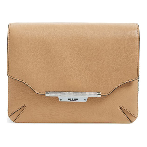 RAG & BONE Pebbled leather crossbody bag - Sleekly styled and slightly edgy, this trim pebbled leather...