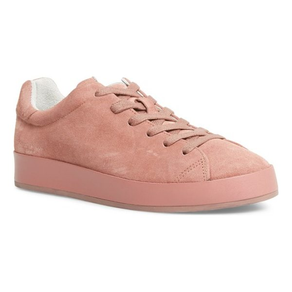 RAG & BONE rb1 low-top sneaker - Liquid-shine leather brightens an essential sneaker styled...