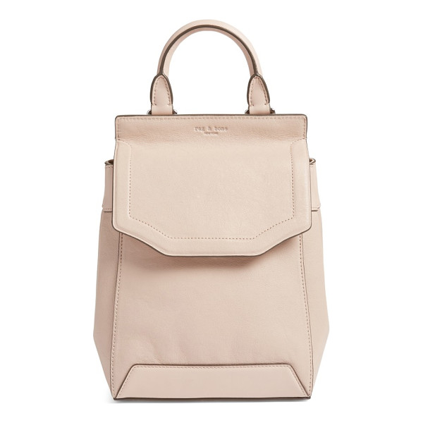 RAG & BONE small pilot ii leather backpack - No matter where you're going, find your way in style with...