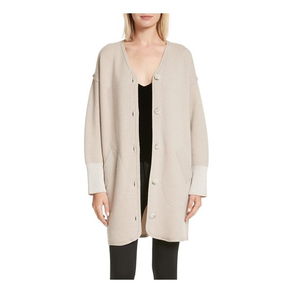 RAG & BONE sutton stretch cashmere cardigan - Oversized buttons, dropped shoulders and extra-wide cuffs...