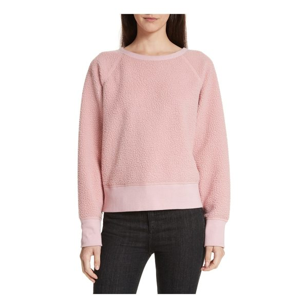 RAG & BONE fleece pullover - Soft and lofty high-pile fleece makes the perfect antidote...