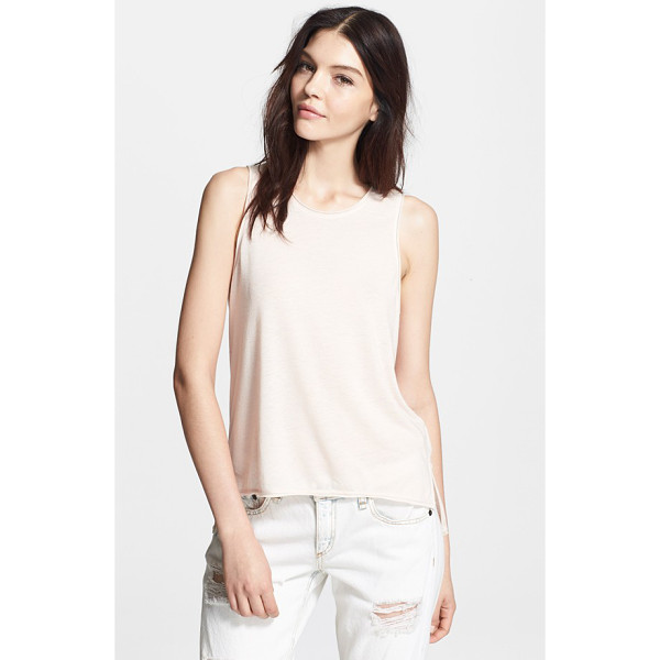 RAG & BONE hollins tank - A tank with cutaway shoulders, distressed edges and a...