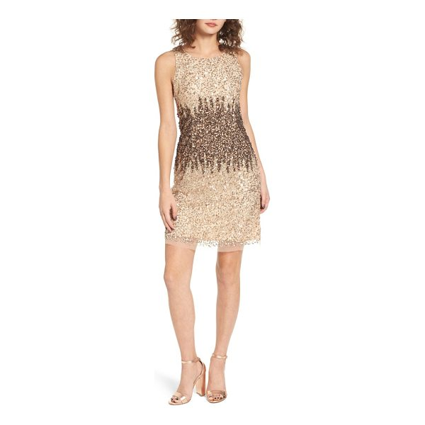 RAGA sequins and champagne dress - Say cheers in this champagne-colored dress drenched in...
