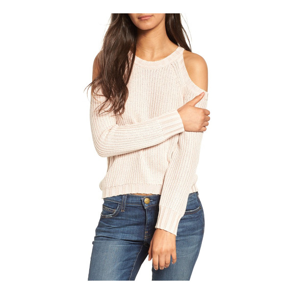 RAILS mika cold shoulder sweater - Slouchy and shoulder-flaunting in a chunky-knit cotton...