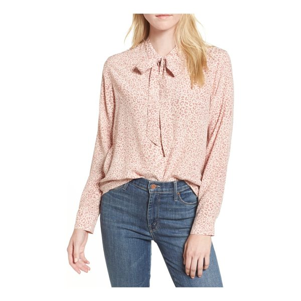 RAILS rail colette print blouse - A blushing cheetah print charms this silky blouse with soft...