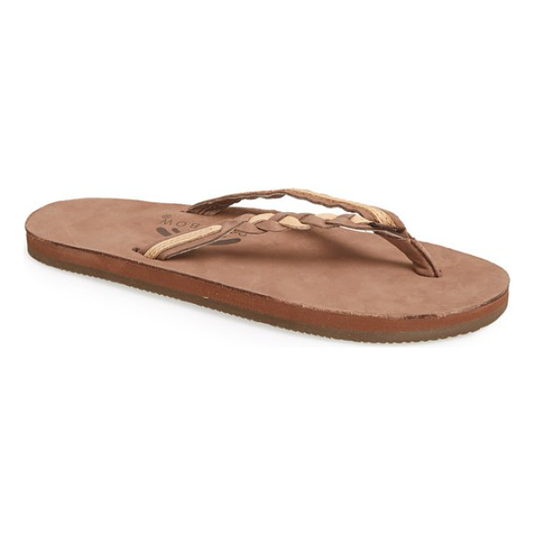 RAINBOW 'flirty' braided leather flip flop - An easy flip-flop designed with soft, braided leather...