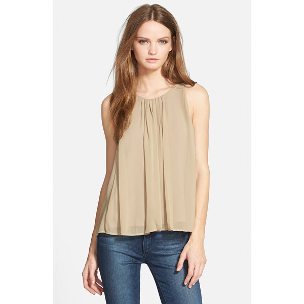 REBECCA MINKOFF allen silk top - Neat box pleats at the front and back necklines release to...