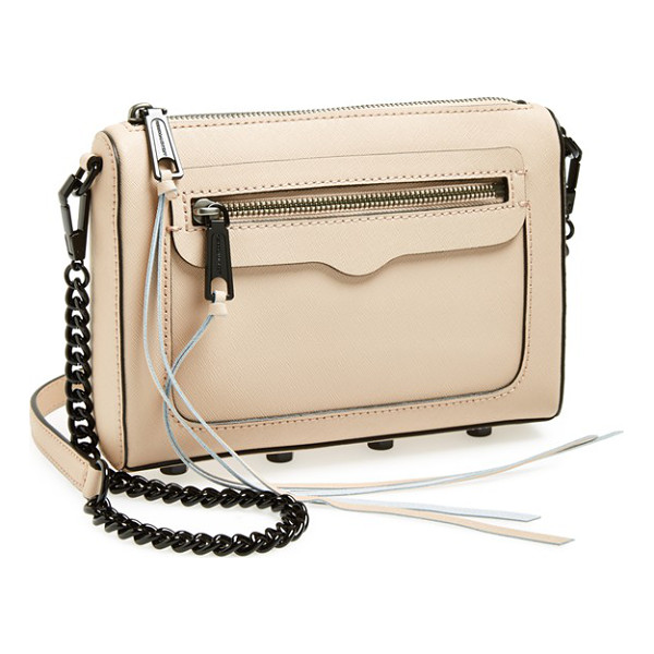 REBECCA MINKOFF Avery crossbody bag - A chic clutch shaped from impeccably textured Saffiano...