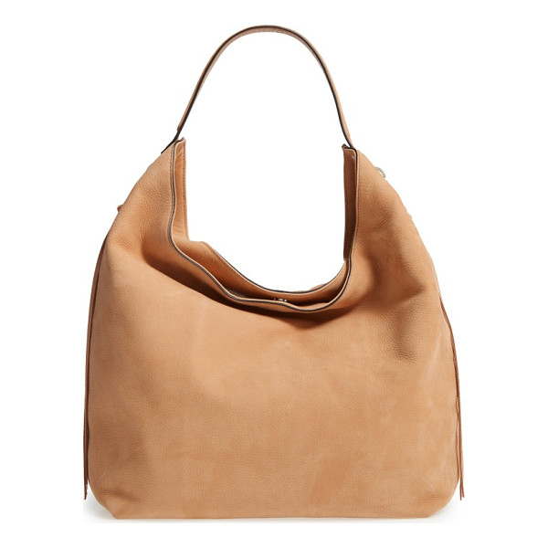 REBECCA MINKOFF bryn nubuck hobo - A buttery-soft nubuck hobo features enough room to carry...