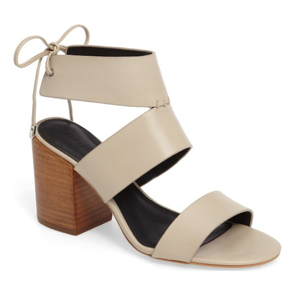 REBECCA MINKOFF 'christy' ankle cuff sandal - A retro-chic, two-tone sandal makes plenty of impact with