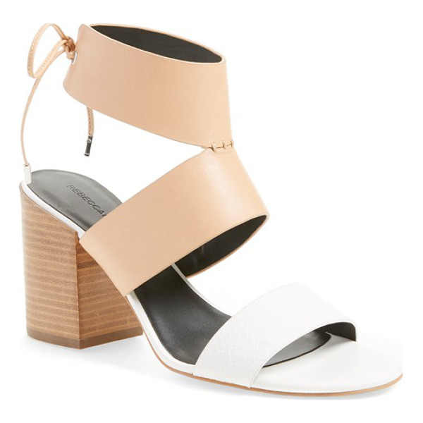 REBECCA MINKOFF christy ankle cuff sandal - A retro-chic, two-tone sandal makes plenty of impact with...