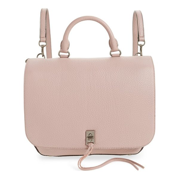 REBECCA MINKOFF darren convertible leather backpack - Richly pebbled leather and a minimalist silhouette define a...