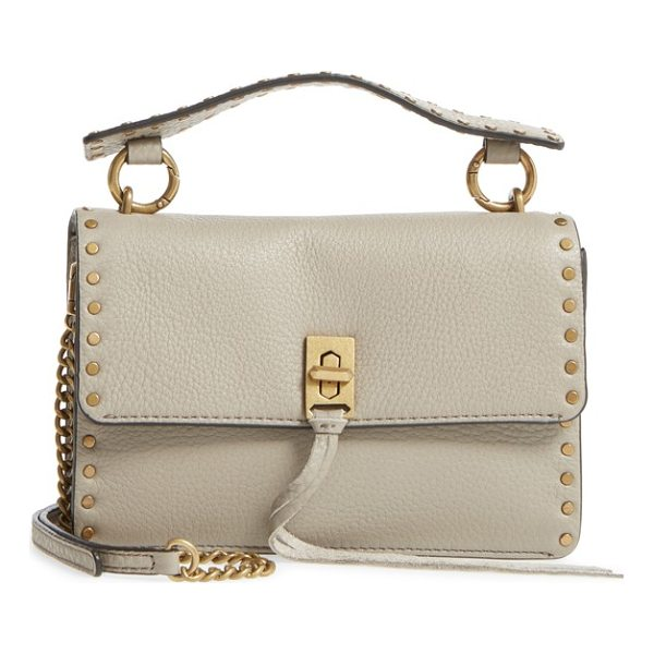 REBECCA MINKOFF darren top handle crossbody bag - Smooth studs trace the structured silhouette of a...