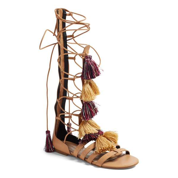 REBECCA MINKOFF eve gladiator sandal - Soft colorful tassels and small dome studs heighten the...