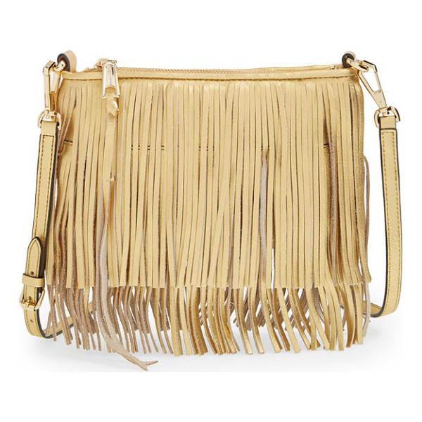 REBECCA MINKOFF Finn convertible leather clutch - Tiered fringe amps up the street-chic attitude of a...