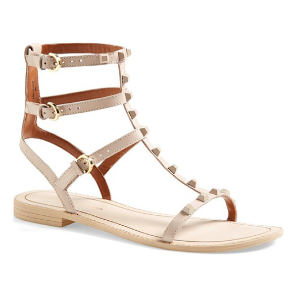 REBECCA MINKOFF georgina studded leather sandal - The season's gotta-have-it gladiator sandal gets a dose of...
