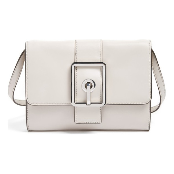 REBECCA MINKOFF hook up convertible leather clutch - Get the latest style hook-up with this leather handbag that