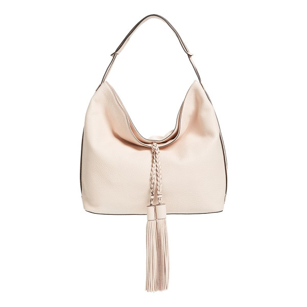 REBECCA MINKOFF 'isobel' tassel leather hobo - Oversized tassel embellishments add a bold, retro-cool