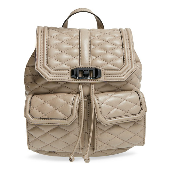 REBECCA MINKOFF Love backpack - Quilted leather comprises a chic backpack with a soft yet...