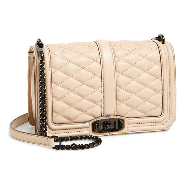 REBECCA MINKOFF Love crossbody bag - Lush quilted leather lends elegant dimension to a sleek,...